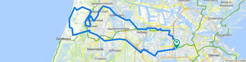 Amsterdam-Zandvoort en terug