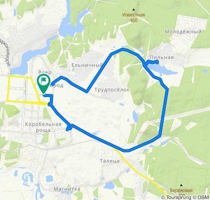От Первоуральск до улица Строителей 1, Первоуральск
