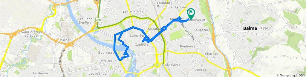 Itinéraire confortable en Toulouse