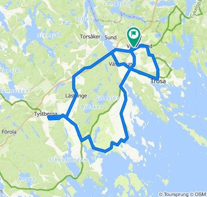 Från Vagnhärad till Trosa runt med övernattning (alt dag på Sävö)