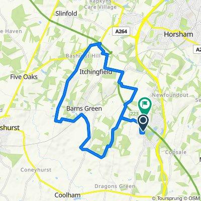 Worthing Road, Horsham to Worthing Road, Horsham