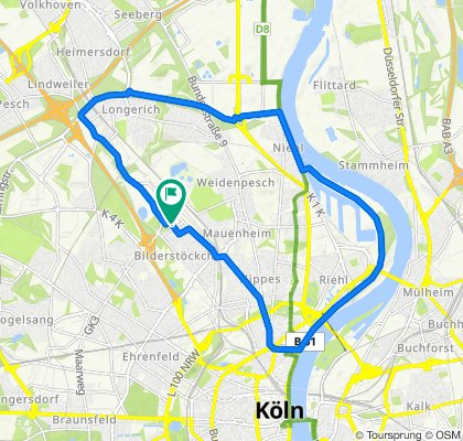 Langsame Fahrt in Köln