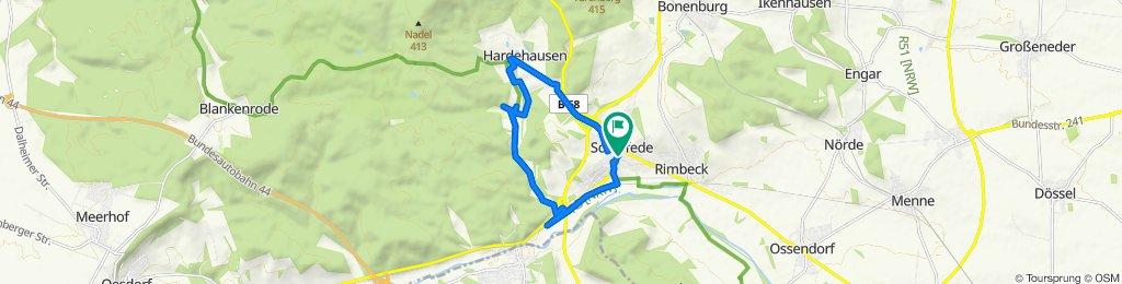 Spokojna trasa w Warburg