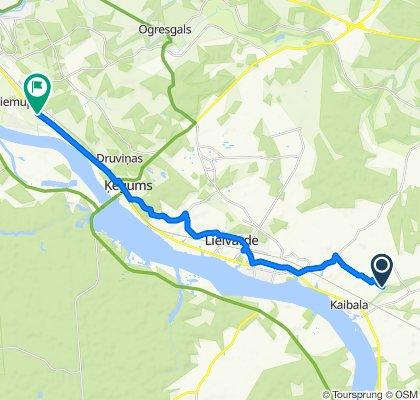 Route to A6, Ogresgals