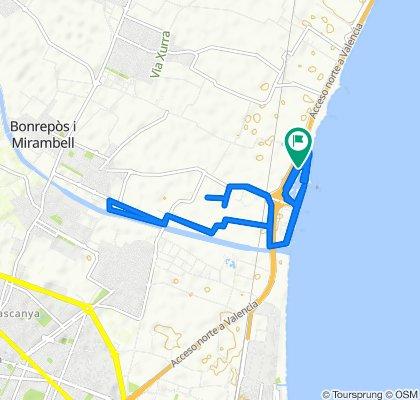 Ruta constante en Alboraya