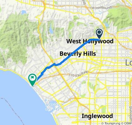 1408 N Poinsettia Pl, Los Angeles to 1636–1642 Appian Way, Santa Monica