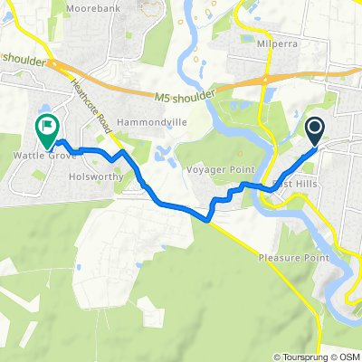 Restful route in Wattle Grove