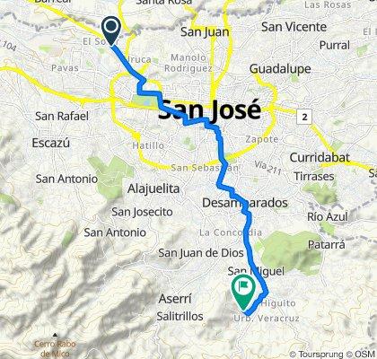 De Transversal 72, San José a Calle Urbanización Pradera Encantada