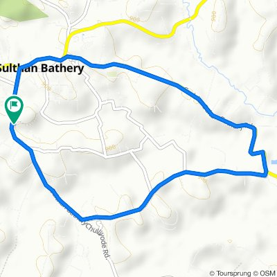 Sulthan Bathery - Chulliyode - Pandalur - Gudalur Road, Sultan Bathery to Sulthan Bathery - Chulliyode - Pandalur - Gudalur Road, Sultan Bathery