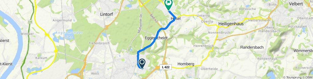 Restful route in Ratingen