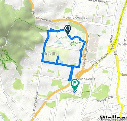 Restful route in Gwynneville