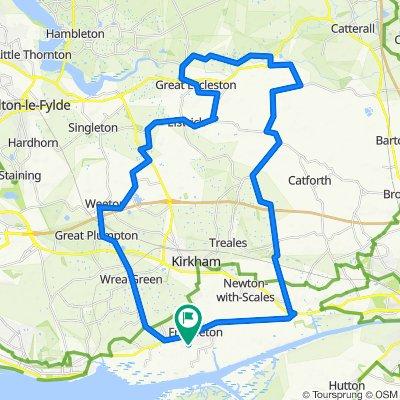 50km around the countryside