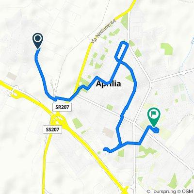 Da Via delle Valli 13, Aprilia a Via Giambattista Pergolesi 118, Aprilia