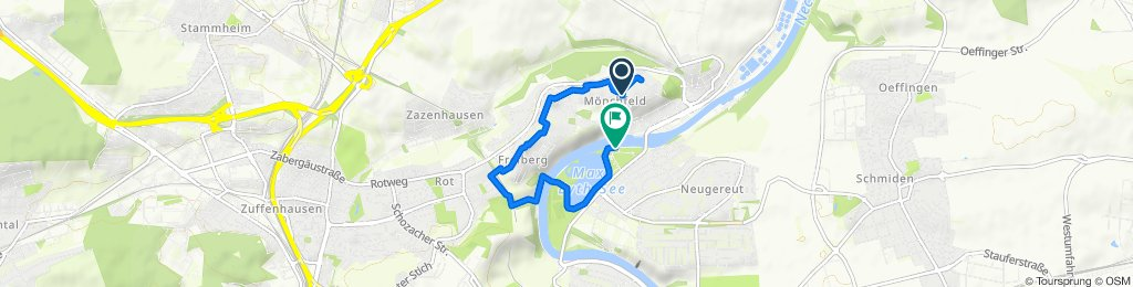 Restful route in Stuttgart