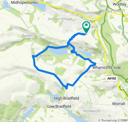 Coronavirus day 44: Home, Ewden, Wharncliffe Side, Bradfield, Bolsterstone loop