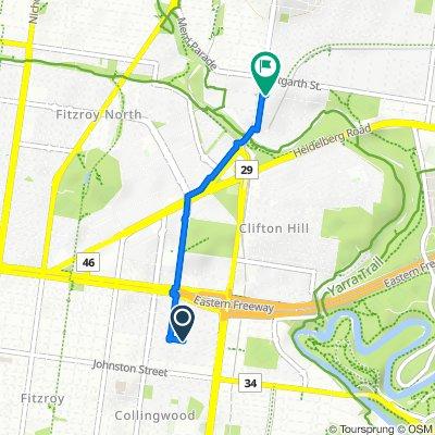 115 Keele Street, Collingwood to 46–50 Cunningham Street, Northcote