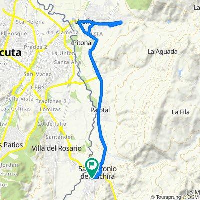 De Carrera 12, San Antonio del Táchira a Carrera 12, San Antonio del Táchira