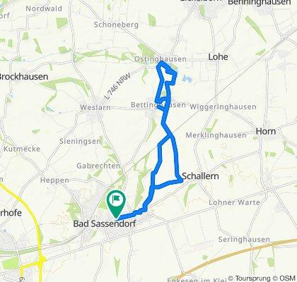 Landwehr/Ecke Oststr., B.Sassend. nach Ostinghausen und zurück