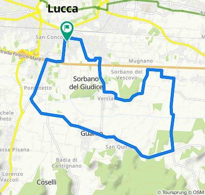 Giro a velocità lenta in Lucca