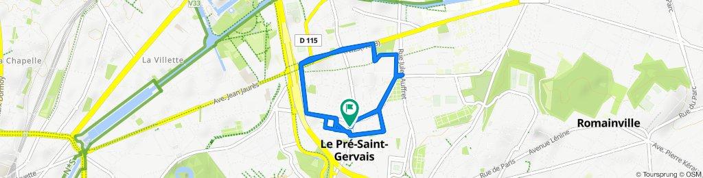 Itinéraire facile en Le Pré-Saint-Gervais