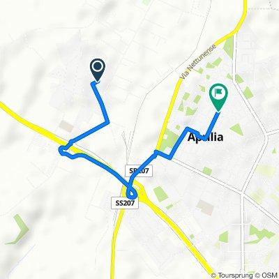 Da Via del Poggio 6, Aprilia a Via dei Lauri 110, Aprilia