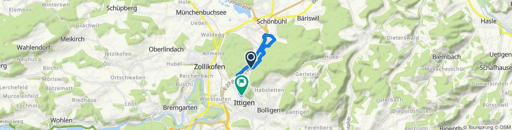 Gemütliche Route in Ittigen
