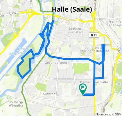 Langsame Fahrt in Halle (Saale)