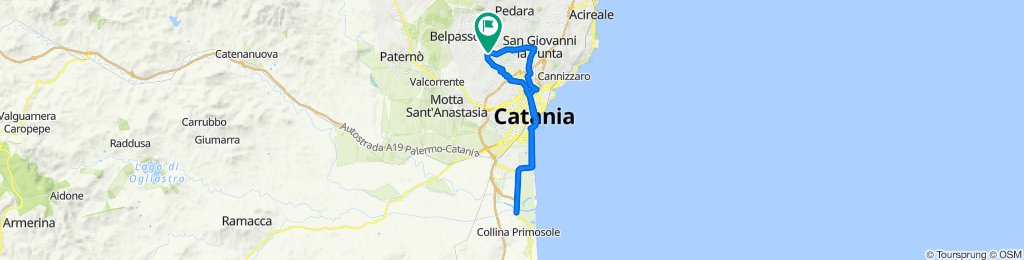 Da Via Capitano Navarria 40, San Pietro Clarenza a Via Capitano Navarria 27, San Pietro Clarenza