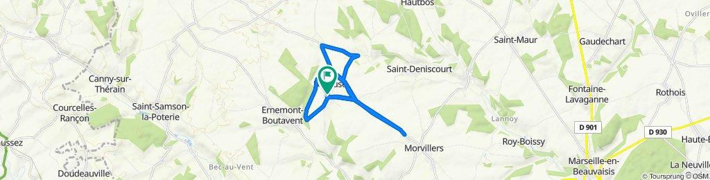 Itinéraire modéré en Loueuse