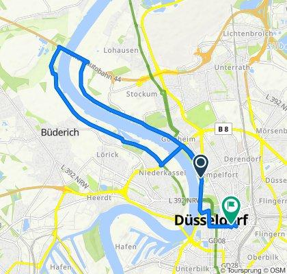 Gemütliche Route in Düsseldorf