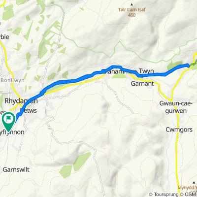 Pantyffynnon Station, Pantyffynnon Road, Ammanford to Pantyffynnon Station, Pantyffynnon Road, Ammanford