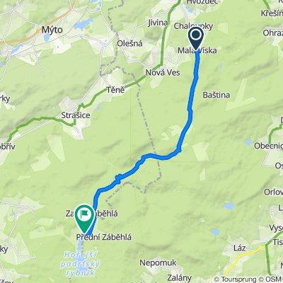Malá Víska - Padrťský 18 km