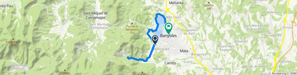 High-speed route in Banyoles