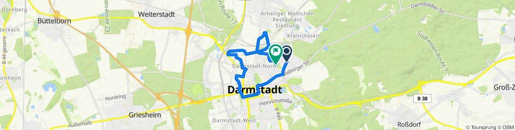 Gerade Fahrt in Darmstadt