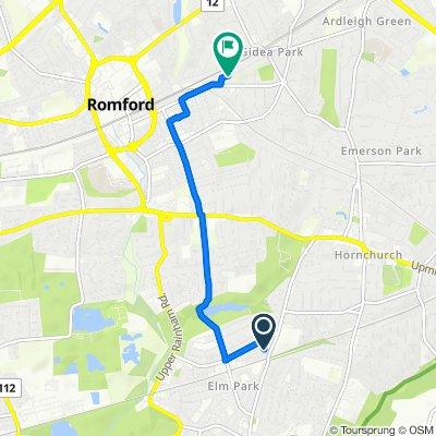 24 Diban Avenue, Hornchurch to 93 Fairholme Avenue, Romford