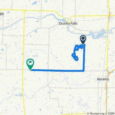 Route to 9247–9345 CTH-E, Oconto Falls