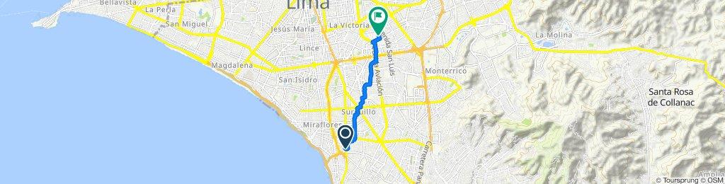 De Avenida República de Panamá 6588, Barranco a Jirón Rio Piura 537, San Luis