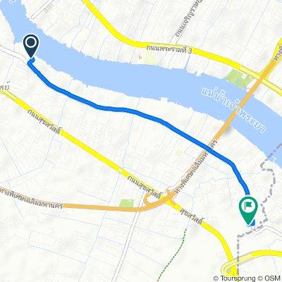 Gematigde route in กรุงเทพมหานคร