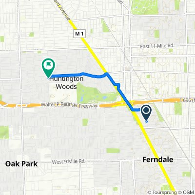 17 Sylvan Ave, Pleasant Ridge to 25800–25998 Scotia Rd, Huntington Woods