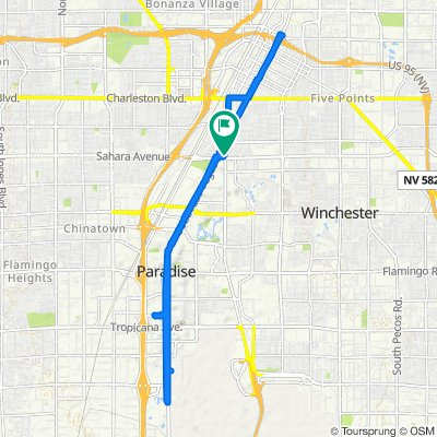 Restful route in Las Vegas