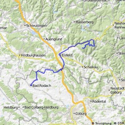 Rennrad Bad Rodach - Bleßberg