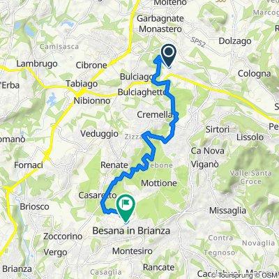 Da Via Alcide de Gasperi 19, Barzago a Via Carlo Ferrario 55, Besana In Brianza