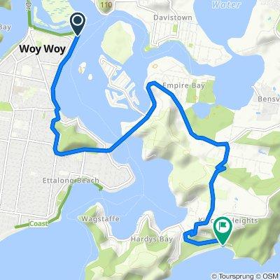 Woy Woy to Putty Beach (43 min)