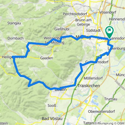 Biedermannsdorf- Heiligenkreuz-Baden -Gumpoldskirchen-Biedermannsdorf
