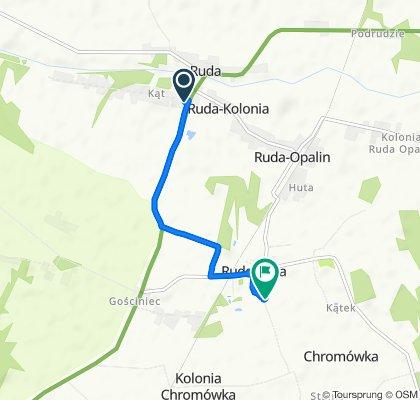 Powolna trasa w Ruda-Huta
