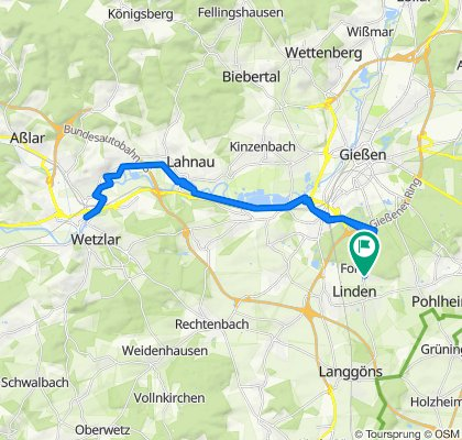 Sportliche Route in Linden