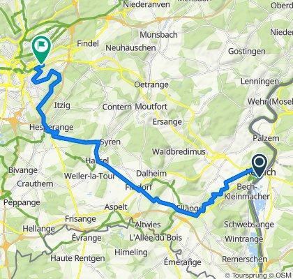 Itinéraire sportif en Luxembourg