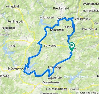 Entspannende Route Talsperren in Halver