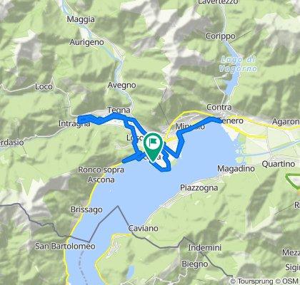 Gerade Fahrt in Ascona