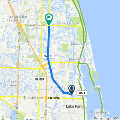 Restful route in North Palm Beach